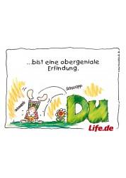 5 Postkarten Life.de - DU...